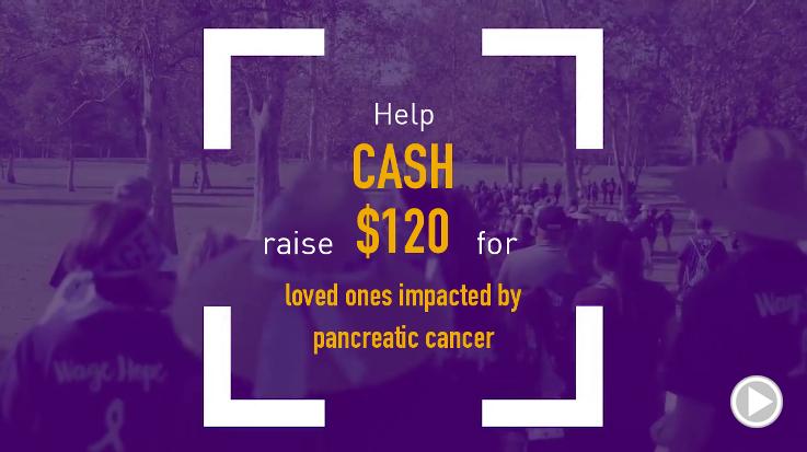 Help Cash raise $120.00