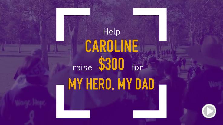 Help Caroline raise $300.00