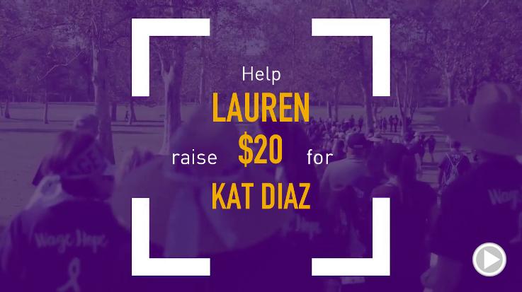 Help Lauren raise $20.00