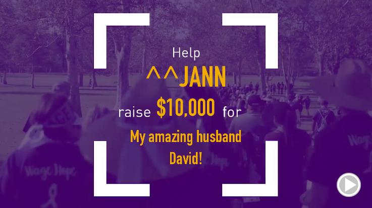 Help Jann raise $10,000.00