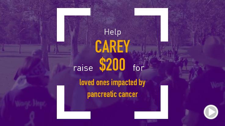 Help Carey raise $200.00