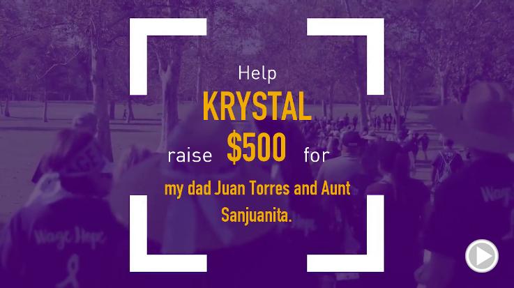 Help Krystal raise $500.00