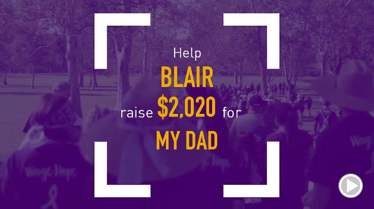 Help Blair raise $2,020.00