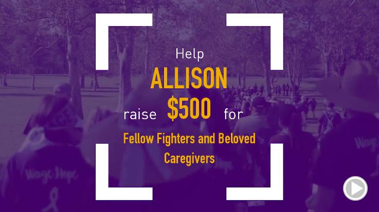 Help Allison raise $500.00