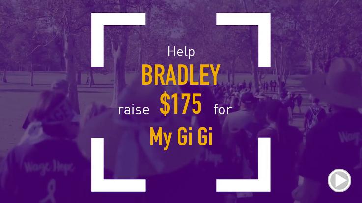 Help Bradley raise $175.00