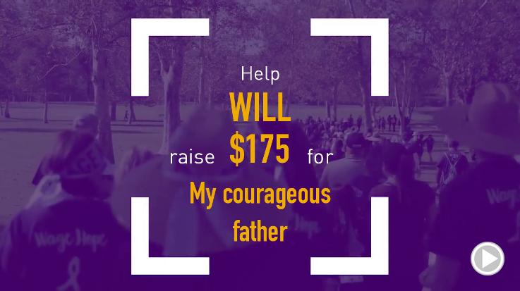 Help Will raise $175.00