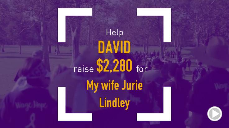 Help David raise $2,280.00