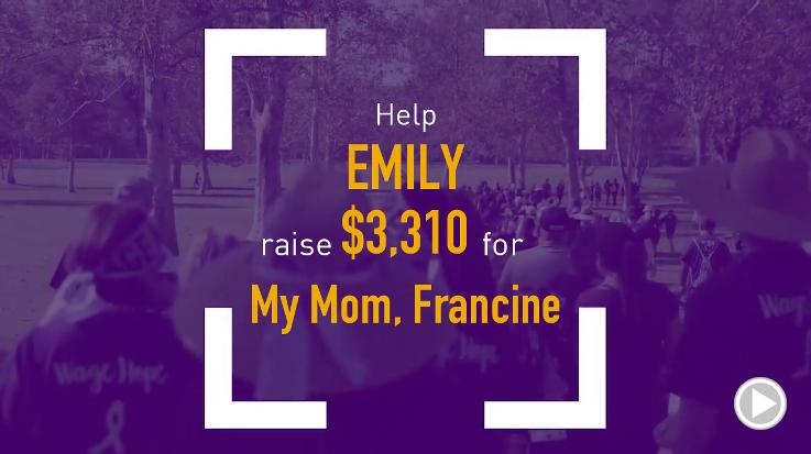 Help Emily raise $3,310.00