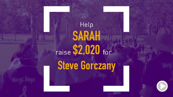 Help Sarah raise $2,020.00