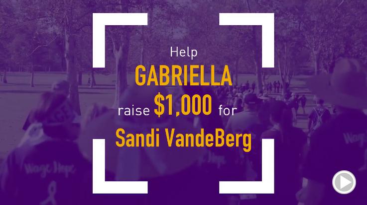 Help Gabriella raise $1,000.00