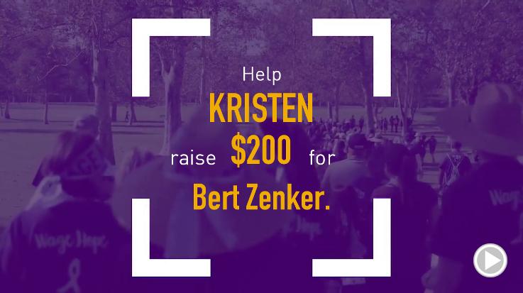Help Kristen raise $200.00