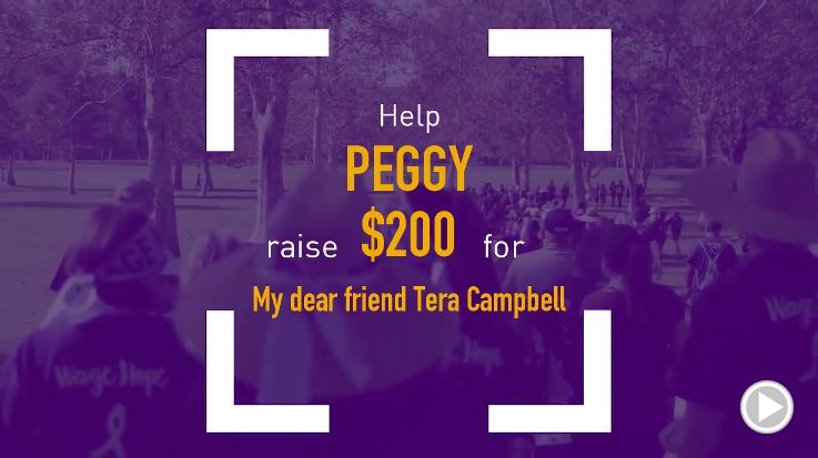 Help Peggy raise $200.00