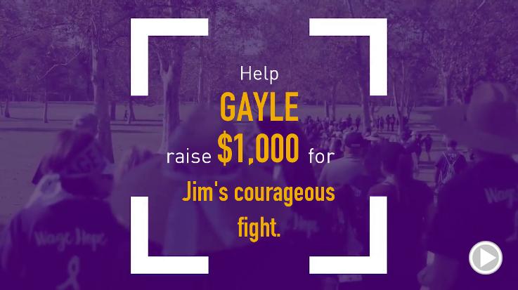 Help Gayle raise $1,000.00