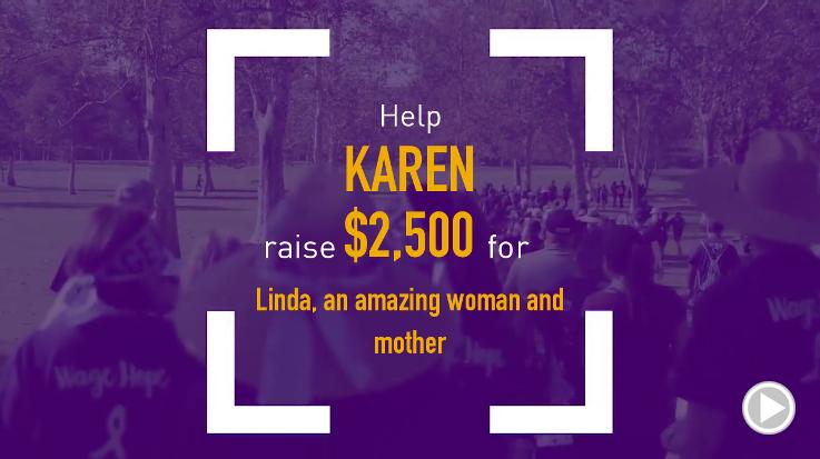 Help Karen raise $2,500.00