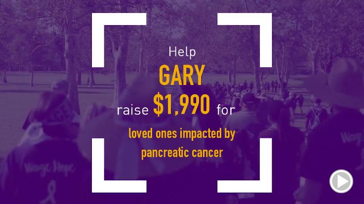 Help Gary raise $1,990.00