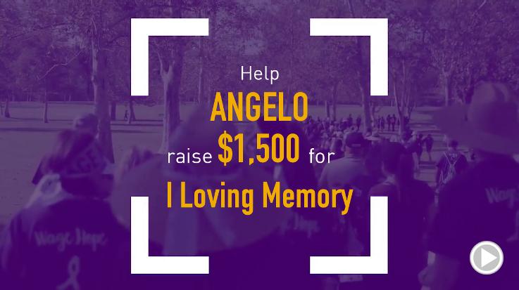 Help Angelo raise $1,500.00