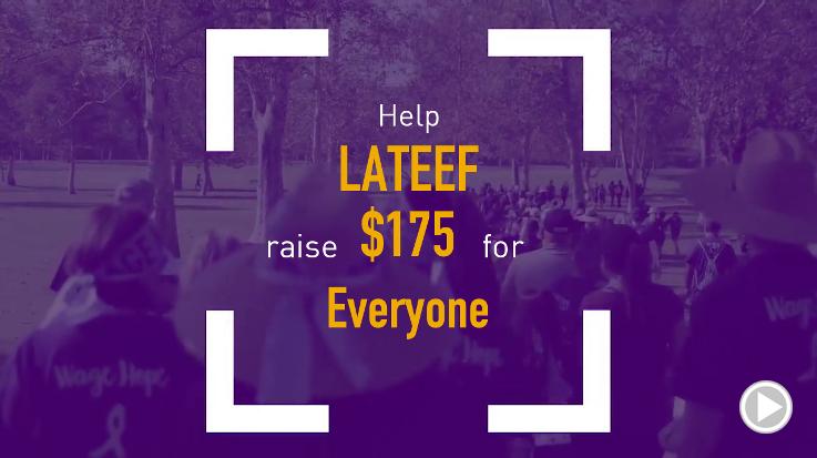 Help Lateef raise $175.00