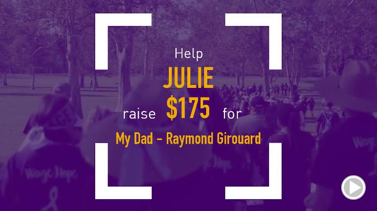 Help Julie raise $175.00