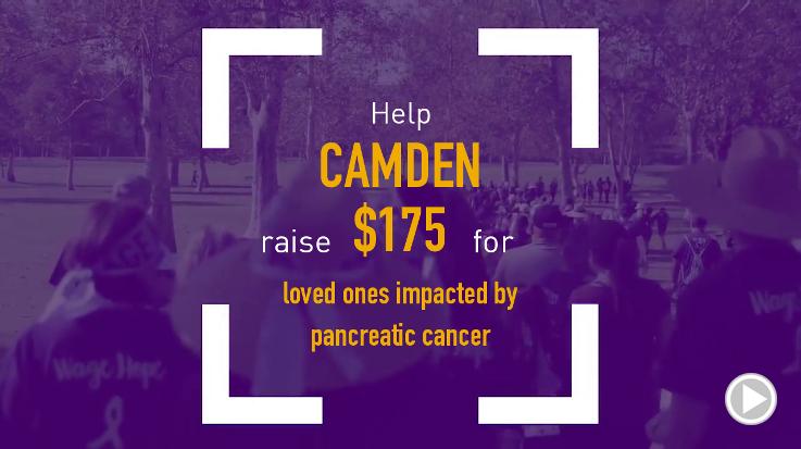 Help Camden raise $175.00