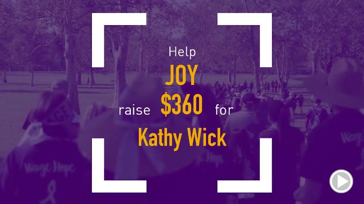 Help Joy raise $360.00