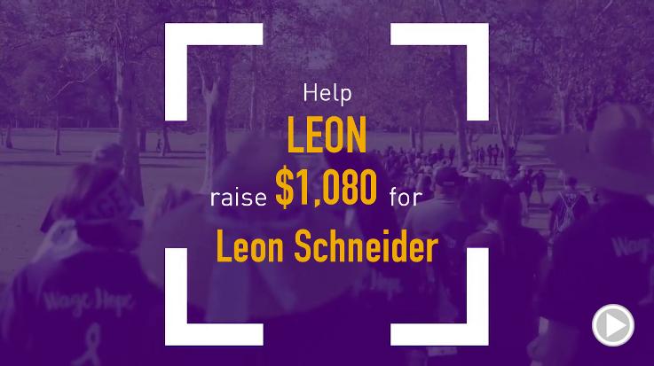 Help Leon raise $1,080.00