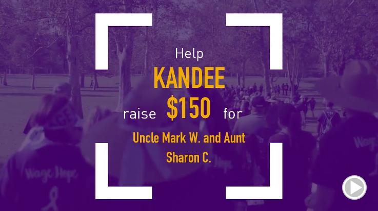 Help Kandee raise $150.00
