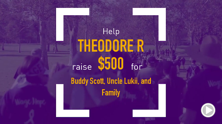 Help Theodore R raise $500.00