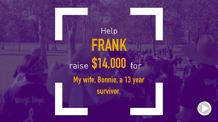Help Frank raise $14,000.00