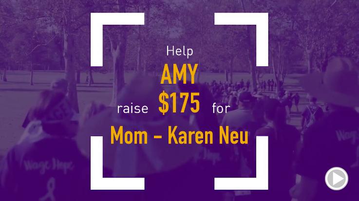 Help Amy raise $175.00