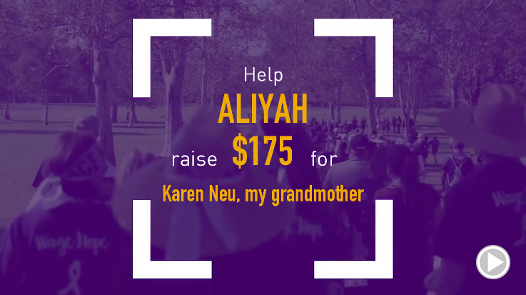 Help Aliyah raise $175.00