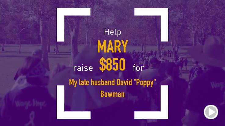 Help Mary raise $850.00