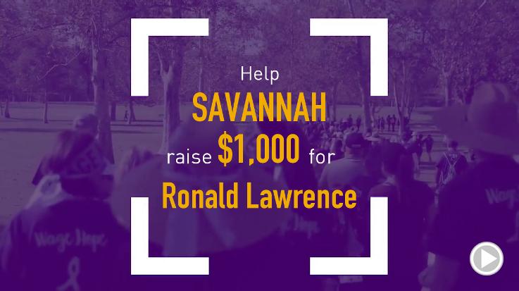 Help Savannah raise $1,000.00