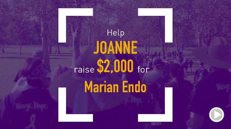 Help Joanne raise $1,000.00