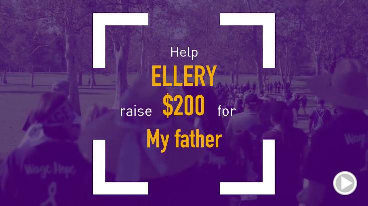 Help Ellery raise $200.00
