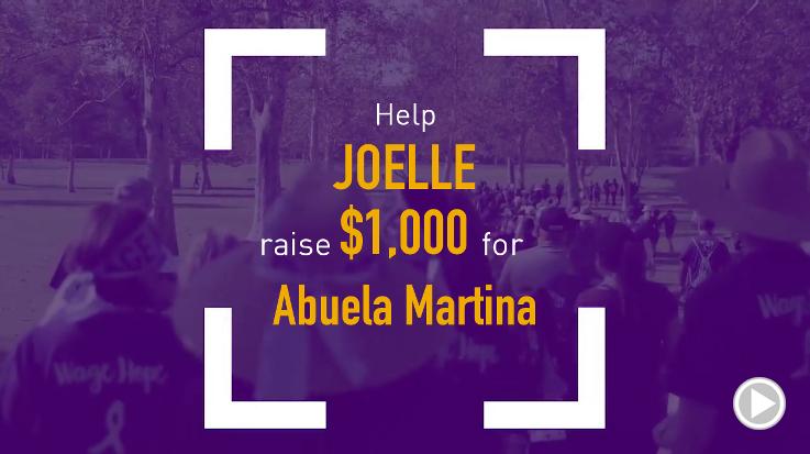 Help Joelle raise $2,000.00