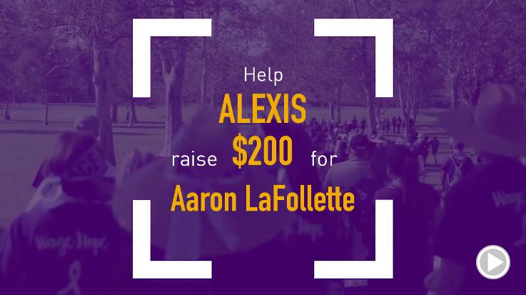 Help Alexis raise $200.00