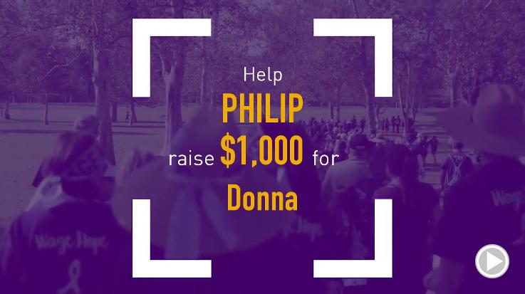 Help Philip raise $1,000.00