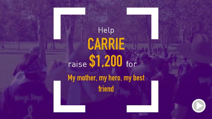 Help Carrie raise $1,200.00