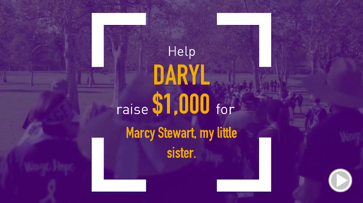 Help Daryl raise $1,000.00