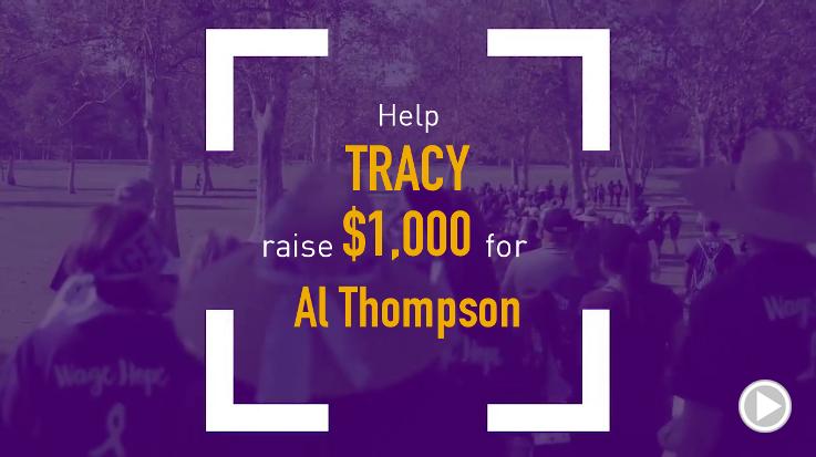 Help Tracy raise $1,000.00