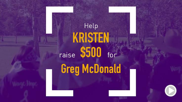 Help Kristen raise $500.00