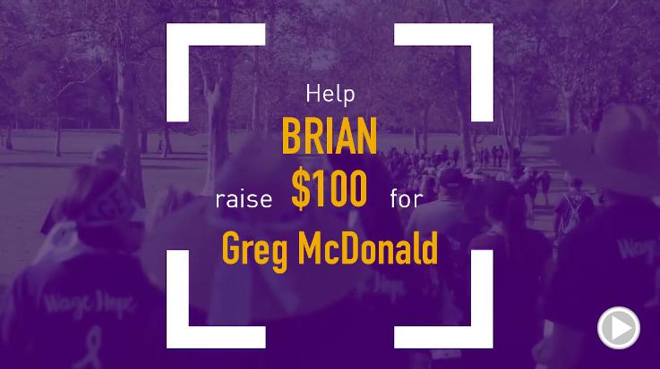 Help Brian raise $100.00