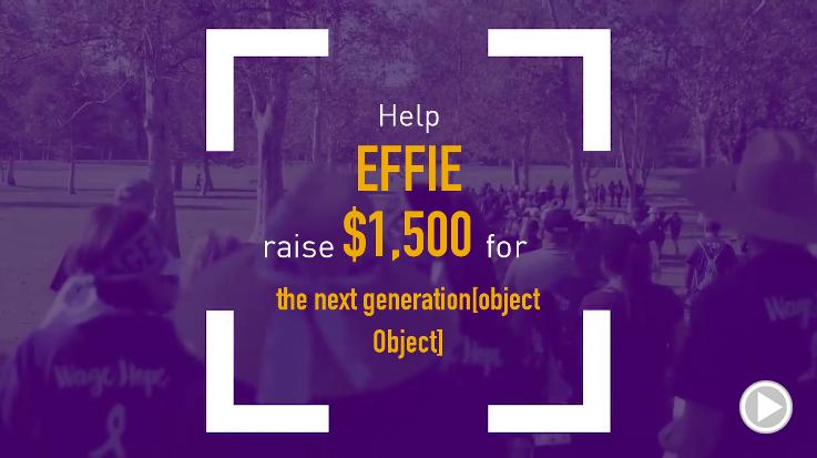Help Effie raise $1,500.00