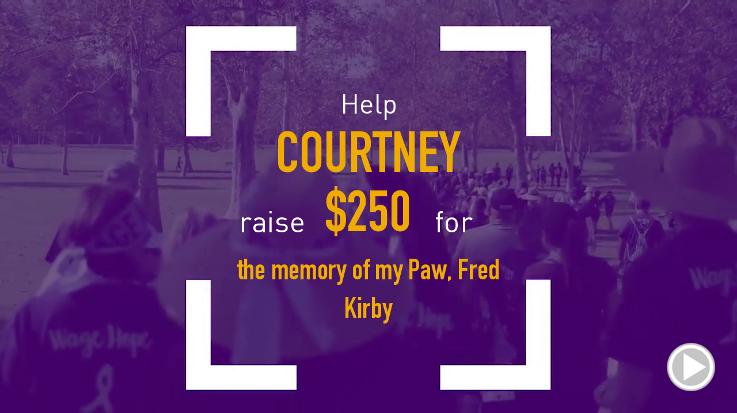 Help Courtney raise $250.00