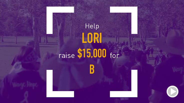 Help Lori raise $15,000.00
