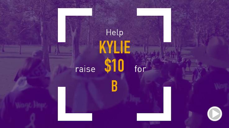 Help Kylie raise $10.00