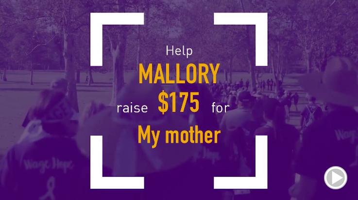 Help Mallory raise $175.00