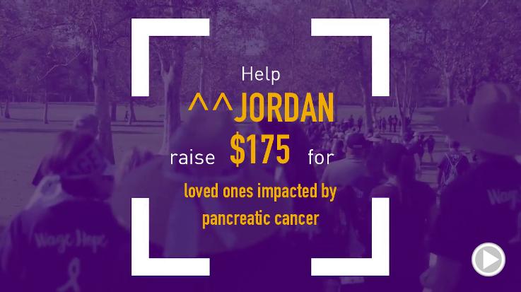 Help ^^Jordan raise $175.00